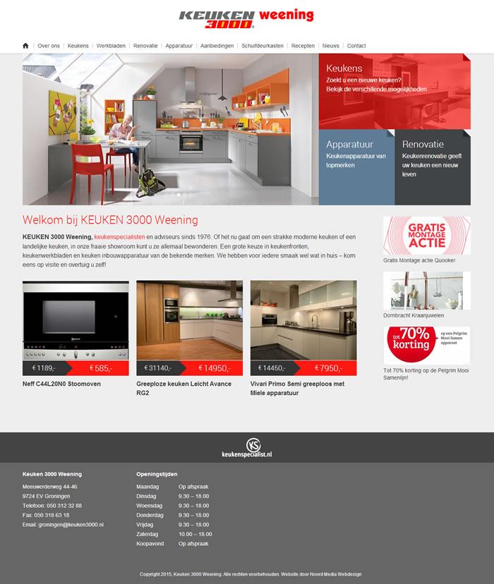 Website Keuken 3000 Weening