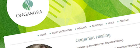 Portfolio Noord Media website en logo design Ongamira Healing